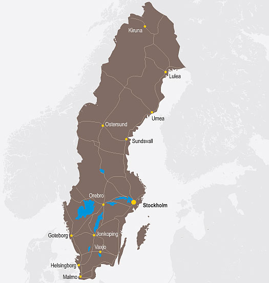 Mapa Szwecji Mapka Szwecji Szwecja